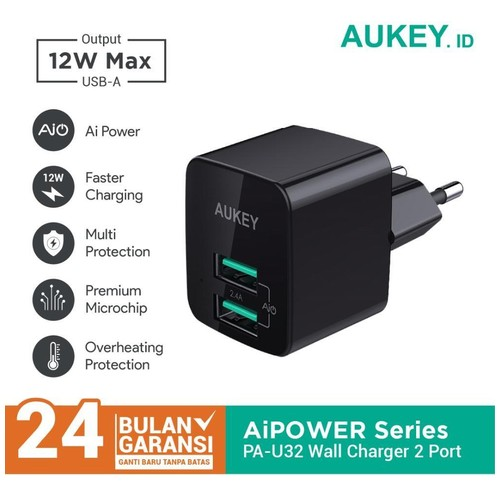 Charger Aukey 2 Port 12W with AiQ - 500284
