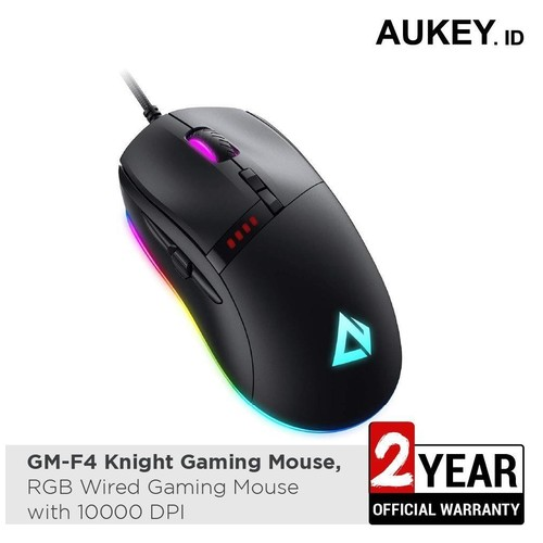 AUKEY GM-F4 - KNIGHT Series - RGB Wired Gaming Mouse with 10000 DPI