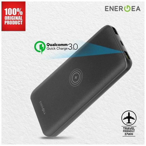Energea - Enerpac 18000 PD Fast Wireless PB USB-C - Black