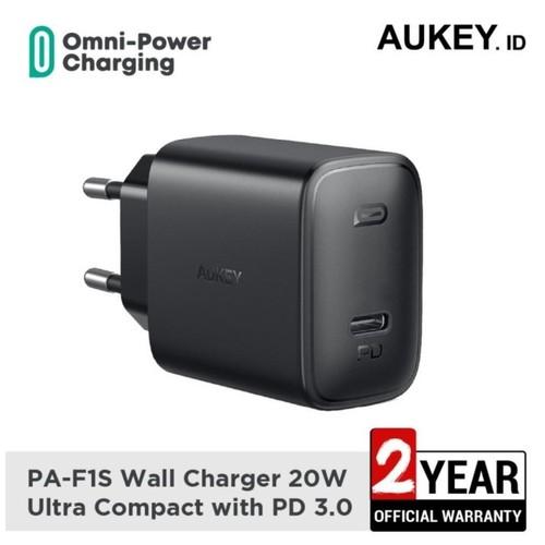 AUKEY PA-F1S - SWIFT 20W - PD Wall Charger Single USB-C Port 20W (Max)