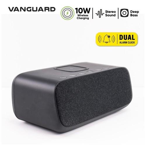 Alarm Clock With 10W Wireless Charge Vanguard Lifeplus Boom - Black