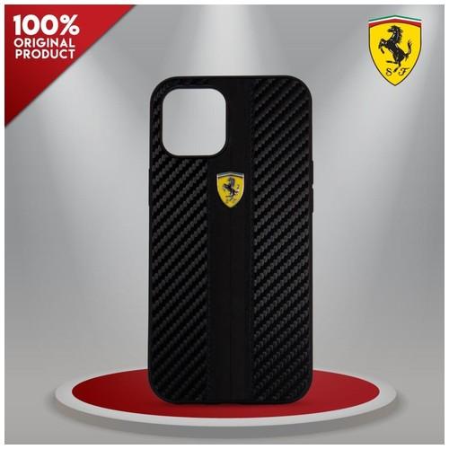 Case iPhone 12/12 Pro Ferrari On Track Carbon PU S.Black