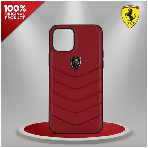 Case IPhone 12 /12 Pro Ferrari Off TK Leather Quilted Red