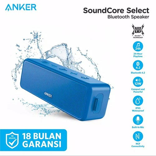 Anker Soundcore Select Bluetooth Speaker A3106 - Blue