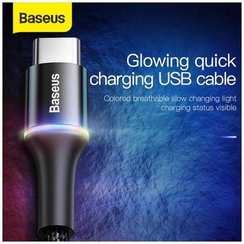 BASEUS Kabel Data Halo LED USB Type C 3A Fast Charging 1M