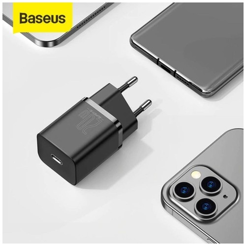 BASEUS Adaptor Charger Fast Charging Type C PD20W iPhone 12