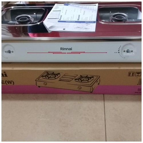 Rinnai - Kompor Gas 2 Tungku White RI602E-W / RI602EW