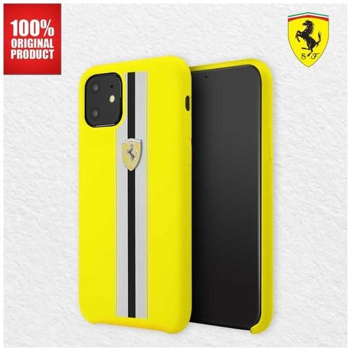 Casing iPhone 11 On Track Pista Silicone Ferrari - Yellow