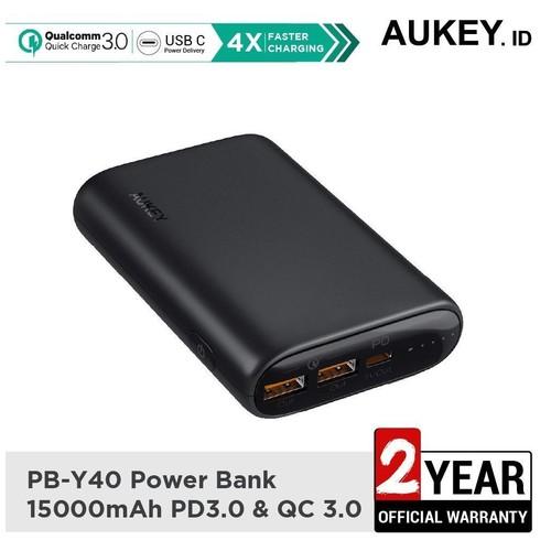 AUKEY PB-Y40 - ESSENTIAL Series 15000mAh Powerbank 3-Port with 30W PD