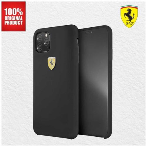 Casing iPhone 11 Pro Max On Track SF Silicone Ferrari - Black