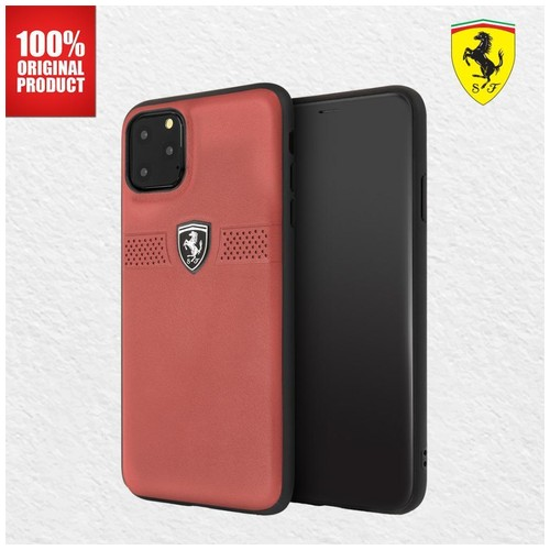 Casing iPhone 11 Pro Max Off Track Grained Leather Ferrari - Red