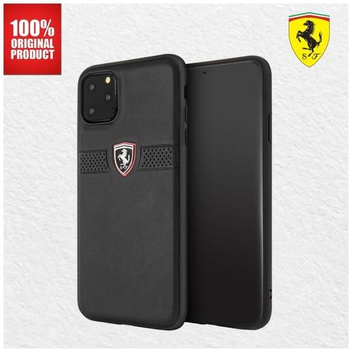 "Ferrari - Iphone 11 Pro Max 6.5""- Off Track Grained Leather - Black"