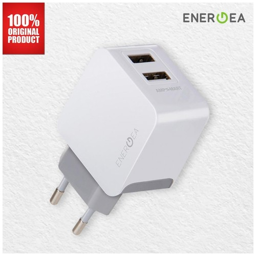 Wall Charger AmpCharge 2-USB 3.4A Energea - White