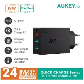 Charger Aukey 3 Ports 42W Q