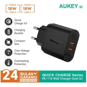 Charger Aukey 2 Ports 36W Q