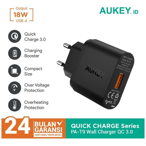 Charger Aukey  1 Port 18W QC 3.0 - 500001