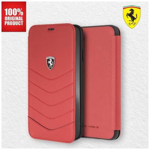 Ferrari - Heritage Quilted Folio Leather - Case iPhone XS Max - Red