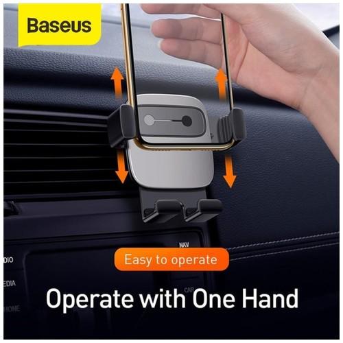 BASEUS Car Holder Air Vent Cube Gravity - Hitam