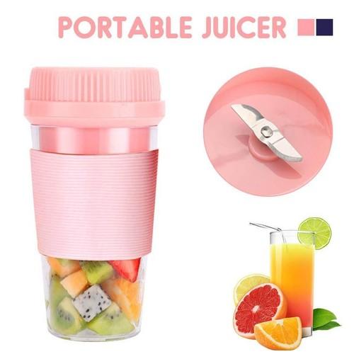 Juicer Mini Portable Blender Buah Cup 300 Ml D01 - Pink