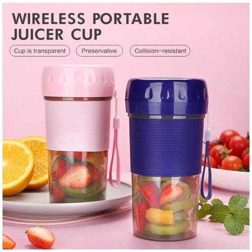 Juicer Mini Portable Blender Buah Cup 300 Ml D01 - Navy