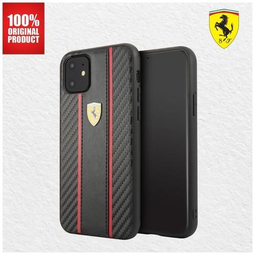 Ferrari - CARBON PU LEATHER CASE - IPHONE 11 6.1