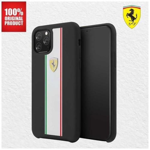 Casing iPhone 11 Pro On Track Pista Silicone Ferrari - Black