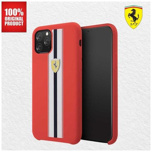 Casing iPhone 11 Pro On Track Pista Silicone Ferrari - Red