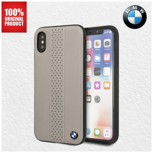 Casing BMW Perforated CT STR Real Leather iPhone X / XS - Taupe