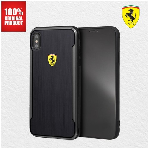 Ferrari On Track SF Alumnium Effect - iPhone XS Max - Black