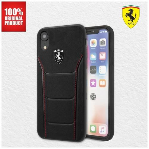Ferrari Heritage 488 Genuine Leather - iPhone XR - Black
