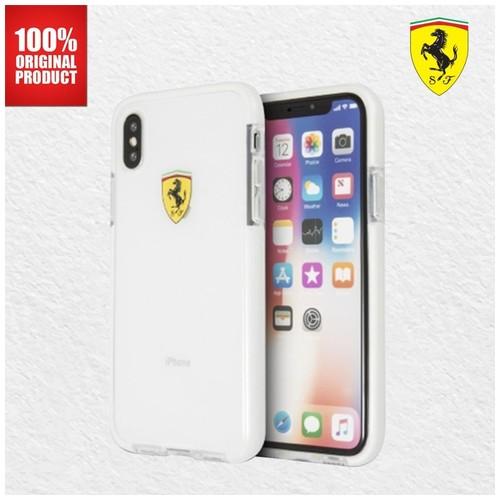 Ferrari Glossy Transparent - iPhone X - White Side