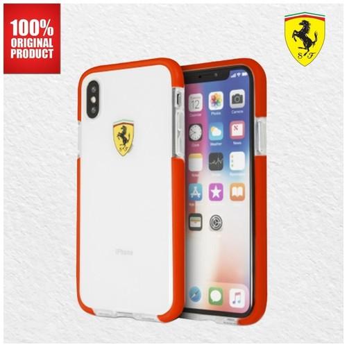 Ferrari Glossy Transparent - iPhone X - Red Side