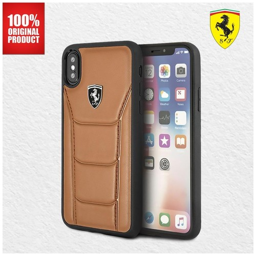 Ferrari Heritage 488 Genuine Leather - Casing iPhone X / XS - Camel