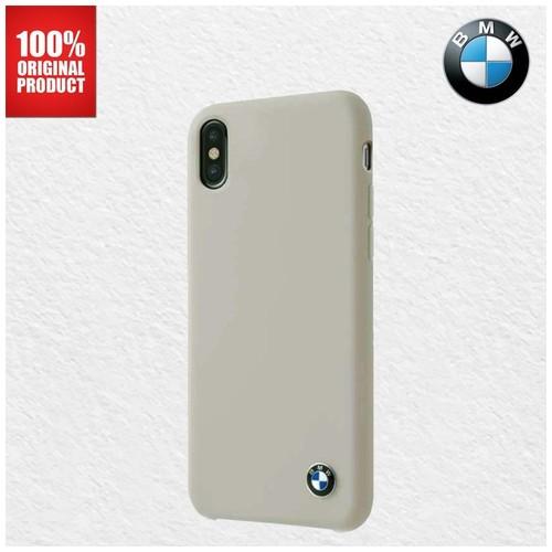 BMW Silicone Signature Microfibre - iPhone X - Taupe