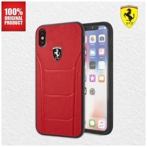 Ferrari Heritage 488 Genuine Leather - iPhone X - Red