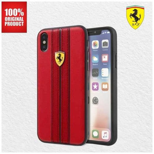 Ferrari On Track PU Leather - iPhone X - Red