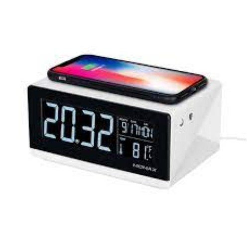MOMAX WIRELESS CHARGER Q CLOCK QC1UKW WHITE