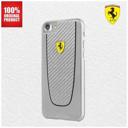 Ferrari SF Pit Stop Carbon Ferrari - iPhone 7 Plus / 8 Plus - Silver