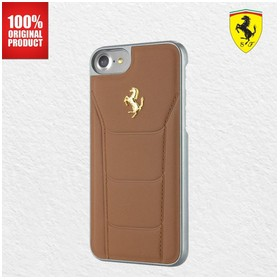 Ferrari Gold Debossed Leath
