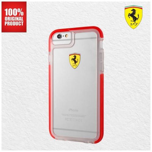 Ferrari Glossy Transparent - iPhone 7 / 8 - Red Side