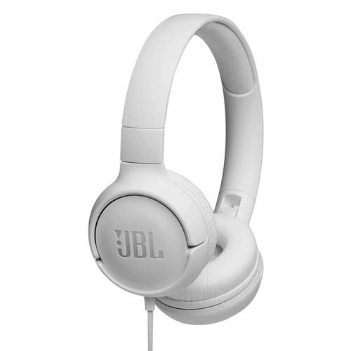 JBL Tune 500 Wired on-ear headphones - White
