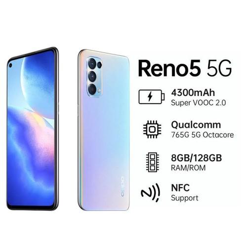 OPPO Reno 5 5G (RAM 8GB/128GB) - Silver
