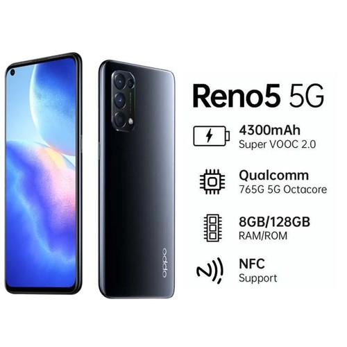 OPPO Reno 5 5G (RAM 8/GB128GB) - Black