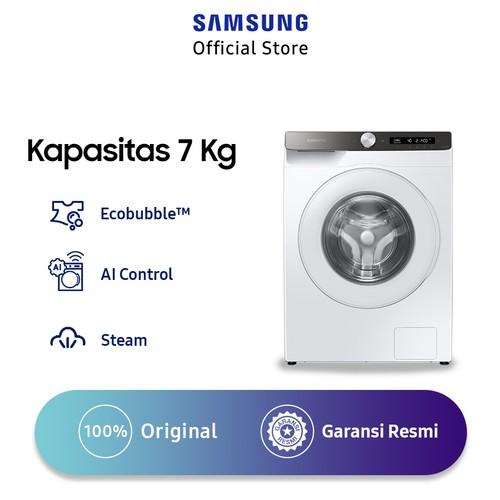 Samsung Mesin Cuci Front Loading 7 Kg dengan Ecobubble, AI Control, Steam WW70T504DTT/SE - White
