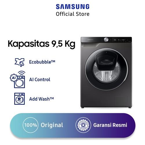 Samsung Mesin Cuci Front Loading 9,5 Kg dengan AI Control WW95T654DLX/SE - Platinum Silver