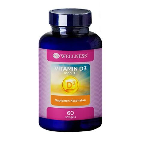 Wellness Vitamin D3 1000 IU 60 Softgels