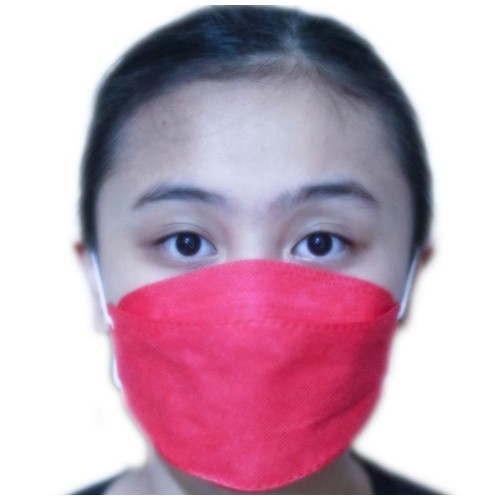 MASKER KN 94 MOUSON PROTECTIVE 4 Ply 10 pc - RED