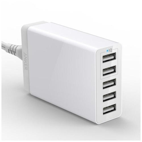ANKER A2134 - PowerPort 5 Lite - 5-Port USB Charger 25W MAX White