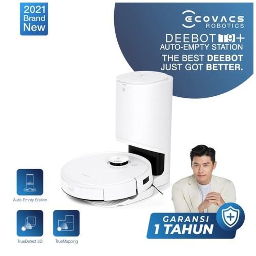 Hyun Bin's First Choice! [2021NEW] Combo Ecovacs DEEBOT T9 Plus Auto Empty Station Robot Vacuum Cleaner Vacum Sapu Pel Vakum