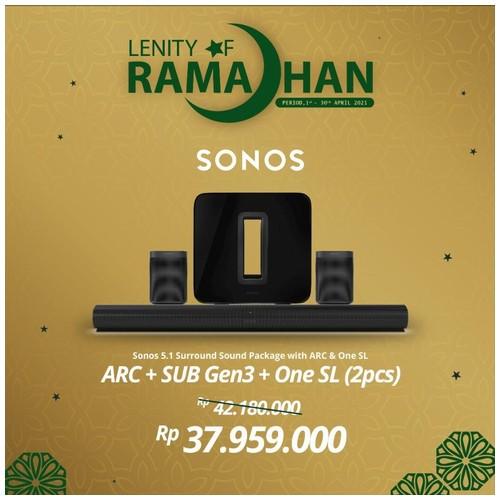 SONOS 5.1.2 SUB Gen3, ARC & Two One SL Wireless Speaker HiFi System
